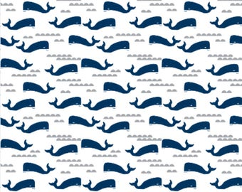 Whale Crib Sheet, Whale Changing Pad Cover, Whale Baby Bedding, Nautical Baby Bedding, Nautical Crib Sheet, Nautical Changing Pad Cover