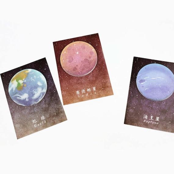 Planet Sticky Notes Earth Moon Neptune Sedna Planner