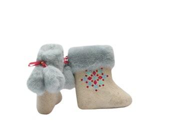 valenki//kids valenki//girl valenki//child felted wool boots//winter child boots