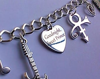 Prince Memorial Charm Bracelet