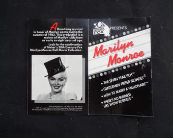 FREE SHIPPING in USA Gift for a Marilyn Monroe Fan  Vintage 1983 Biographical Pamphlet  1118