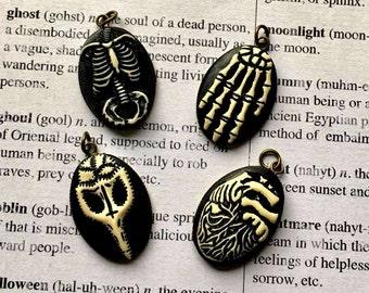 Gothic, Halloween Resin Pendants- Choose Your Favorite!