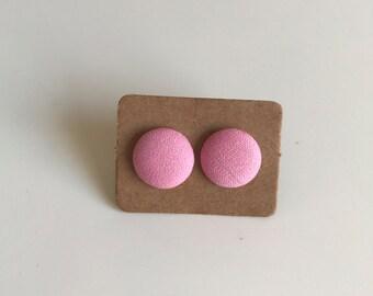 Pink Fabric Studs