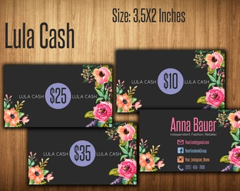 Cash Cards, Free Fast Personalization , Money Card, Bucks, Home Office Approved fonts and colors