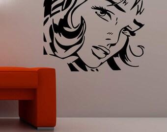 Groovy Women Retro Silhouette vinyl wall art or sticker