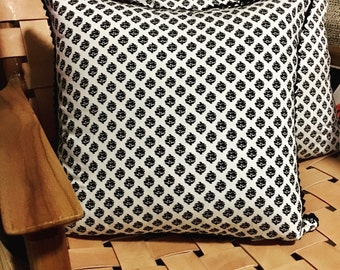 Indian paisley cotton cushion