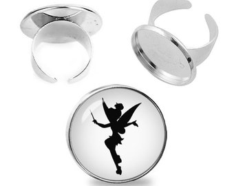 Tinkerbell Ring Tinkerbell Adjustable ring Peter Pan Jewelry Fanboy Fangirl
