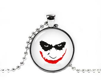 Joker Face Pendant Necklace with a ball chain Fandom Jewelry Cosplay Fangirl Fanboy