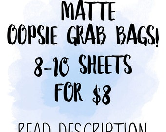 MATTE Oopsie Grab Bags | for use with Erin Condren Lifeplanner™, Filofax, Personal, A5, Happy Planner