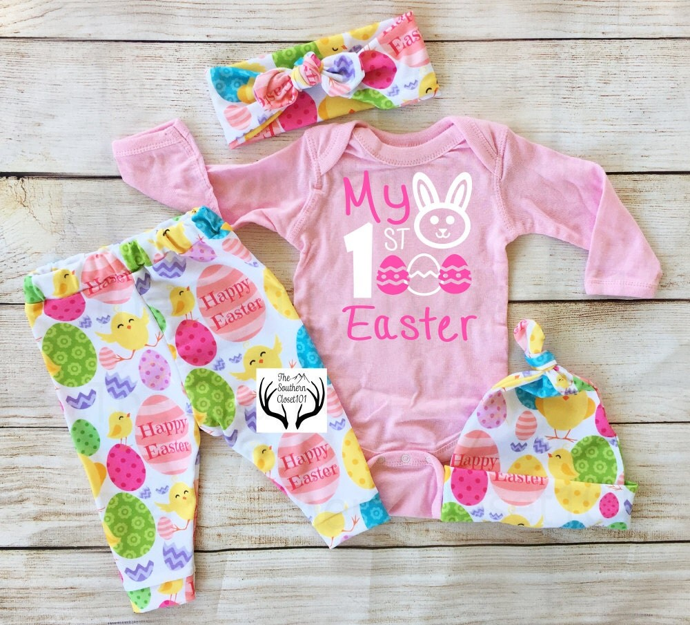 Baby Girl Easter Outfit My First Easter NewbornEaster
