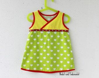 Dress, toddler Dress, Cotton Dress, Toddler Girls Cotton Dress with Hearts