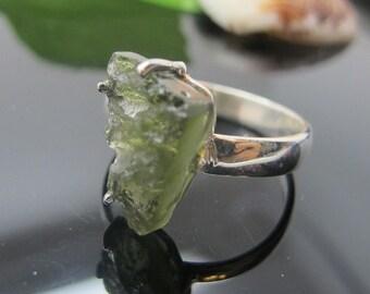 Moldavite Ring, 925 Sterling Silver Ring, Gemstone Rings, Crystal Rings, Healing Rings