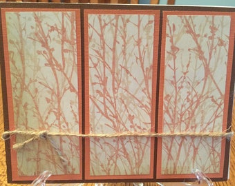 Sea Fan Triptych - Blank Notecard