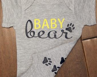 Baby Bear Bodysuit, Baby Bear, Baby Bear One Piece, Baby One piece, Bear one piece,