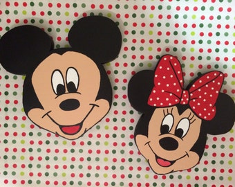 Set of Mickey Mouse and Minnie Mouse Wall Decor