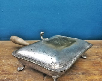 Antique cigarette cases from mid century table
