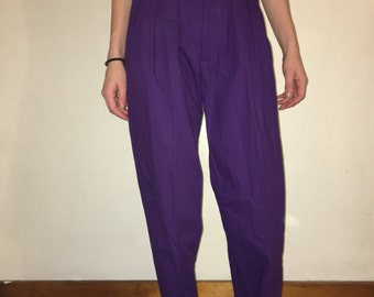 90s Purple High Waisted Pants