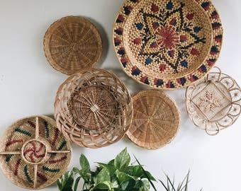 Basket wall set of six baskets