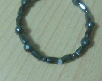 Mental Health Awareness Jewelry - Gray White Bracelet (Borderline Personality Disorder)
