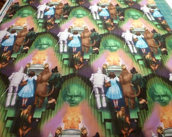 "wizard of oz fabric 40"" colorful emerald city"