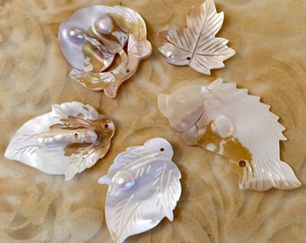 Mother of Pearl, Blister Pearl Shell Set of 5