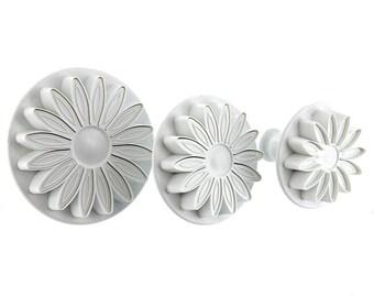 PME Sunflower / Daisy Plunger Flower Cutter 3pcs Set