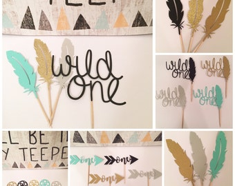 Custom made Wild one topper bundle