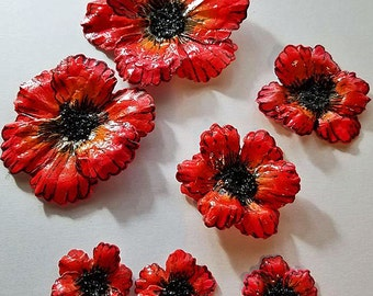 Handmade Paper Flowers-Poppies