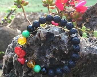 One Love Lava Bracelet