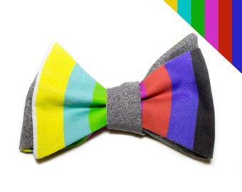 TV color bars - Self-tie Adjustable Bow Tie