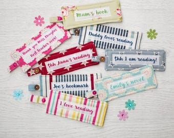 Personalised Bookmark - fabric bookmark - bookmark - gift for children - teacher gift - mother's day gift - stocking filler
