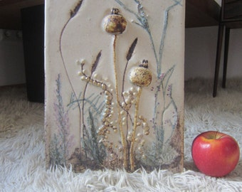 Vintage ceramic relief wall Ceramic ceramic picture 1