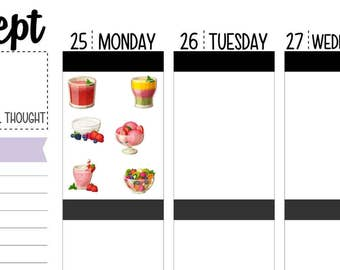 60 Fruit Cup Smoothie Planner Stickers