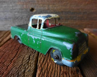 """Vintage Tootsietoy tootsie-toy Die Cast 4""""  CHEV. Cameo Carrier Pick-up 1960's Made in United States"""