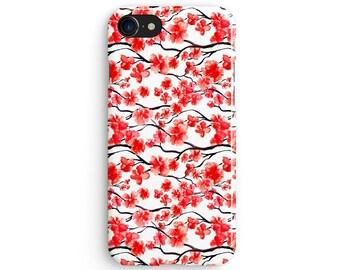 Japanese cherry tree - iPhone 7 case, Samsung Galaxy S7 case, iPhone 6, iPhone 7 plus, iPhone SE, iPhone 5S, 1C089A