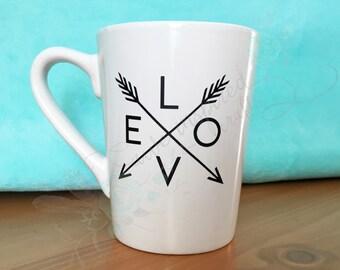 Love arrow coffee mug