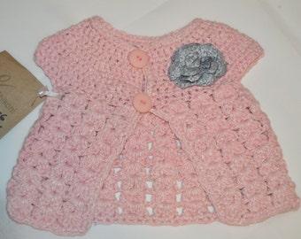 0 - 6 Months Girls' Light Pink Cardigan
