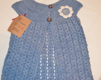 3 - 4 Years Old Girls' Blue Cardigan