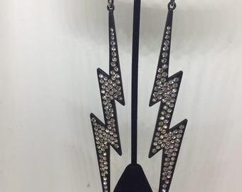 """1980s Studio 54 earrings!!  Amazing earrings!!  7"""" long!"""