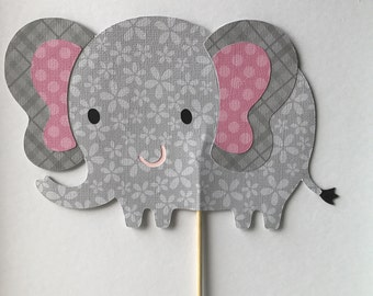 Elephant cake topper, elephant Centerpieces, safari themed birthday party, safari themed cake topper, elephant baby Shower Centerpiece.