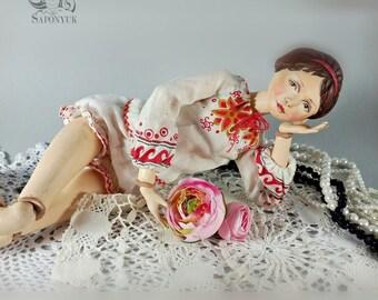 Dolls. Art doll Oaak. Souvenir, interior decoration. Art doll. Doll, doll, doll from an artificial bush, оoak bjd. Saponyuk_artdolls