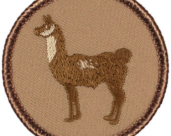 Llama Patch (175) 2 Inch Diameter Embroidered Patch