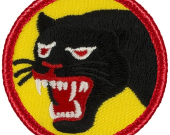 66th Infantry (Black Panthers) Patch (677A) 2 Inch Diameter Embroidered Patch