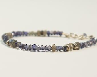 Iolite and Labradorite Bracelet