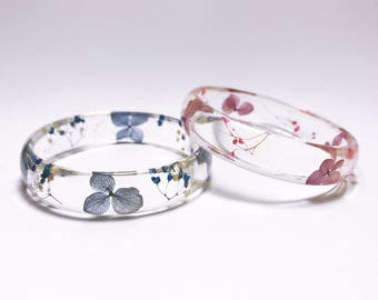 Pressed flowers bangles, real flowers bangles, resin bangles,Botanical Jewellery, real flowers bracelet , pressed flowers bracelets