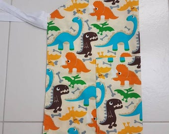 Little toddler apron, apron, children's apron, dinasor apron