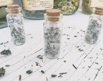 Smelling Salts Aromatherapy [ Anti Anxiety smelling Salt ] Lavender/Botanical-Witchcraft-Wicca-Pagan-Spell-stress relief-metaphysical-occult