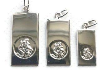 Sterling silver Saint Christopher Ingot