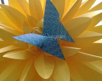Dahlia flower origami