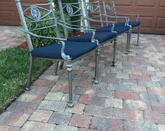 Set of Four Dolphin Fish Outdoor Chairs | Vintage Outdoor Chairs